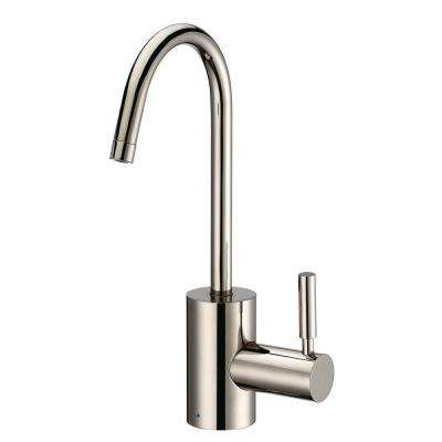 Single Handle Cold Water Dispenser with Contemporary Spout in Polished Nickel