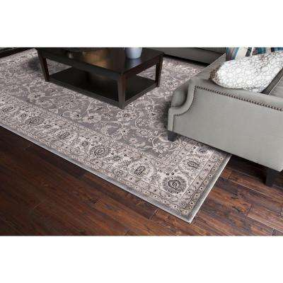 Kashan Bergama Gray 7 ft. x 9 ft. Area Rug
