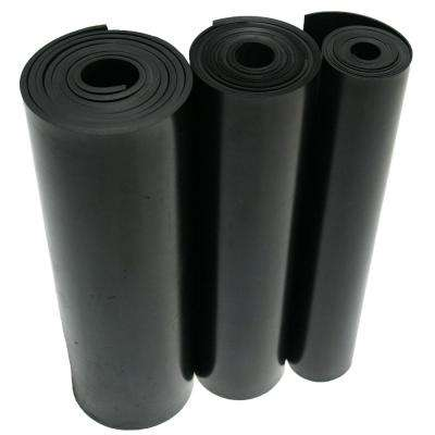 Nitrile 1/8 in. x 36 in. x 24 in. Commercial Grade 60A Rubber Sheet Black Buna Sheets