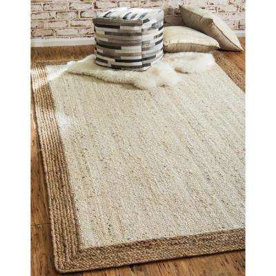 Braided Jute Goa Ivory 2' 0 x 3' 0 Area Rug