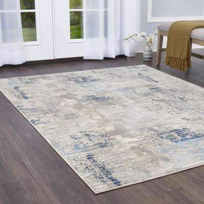 Melrose Lorenzo Gray/Blue 7 ft. 10 in. x 10 ft. 2 in. Indoor Area Rug