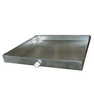 32 in. x 32 in. Drain Pan with PVC Connector - 26 Gauge