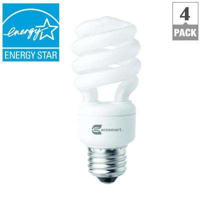 60W Equivalent Soft White Spiral CFL Light Bulb (4-Pack)