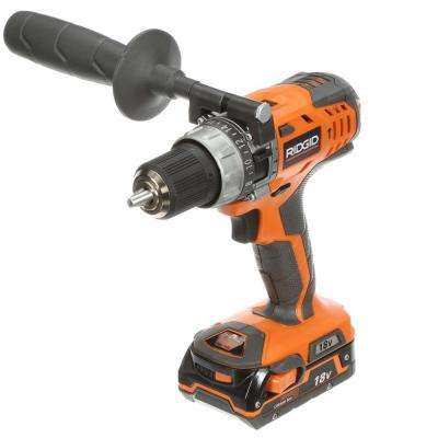 18-Volt Lithium-Ion 1/2 in. Cordless Compact Hammer Drill