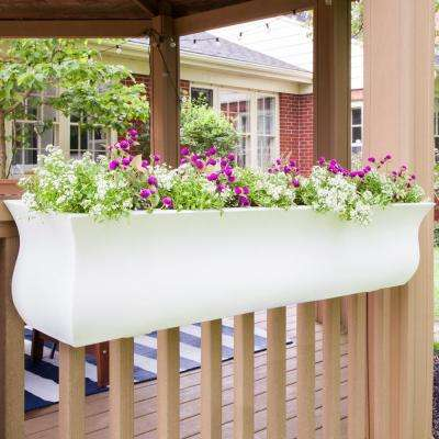 Self-Watering Valencia 4 ft. White Polyethylene Window Box