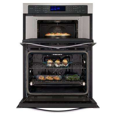30 in. Electric Convection Wall Oven with Built-In Microwave in Stainless Steel