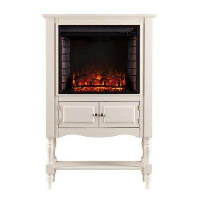Arlington 32.25 in. W Electric Fireplace Tower in Antique White