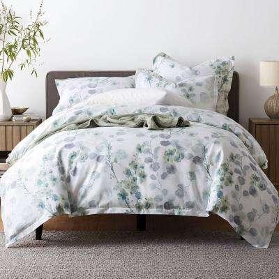 Plum Blossom Wrinkle-Free Sateen Duvet Cover