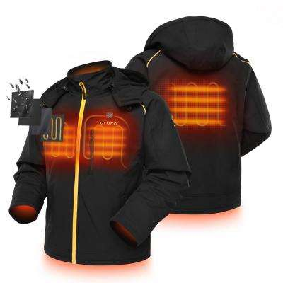 Men's 7.4-Volt Lithium-Ion Soft Shell Heated Jacket with Detachable Hood and (1) 5.2Ah Battery Pack