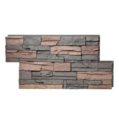 Stacked Stone Stratford 24 in. x 42 in. Faux Stone Siding Panel (4-Pack)