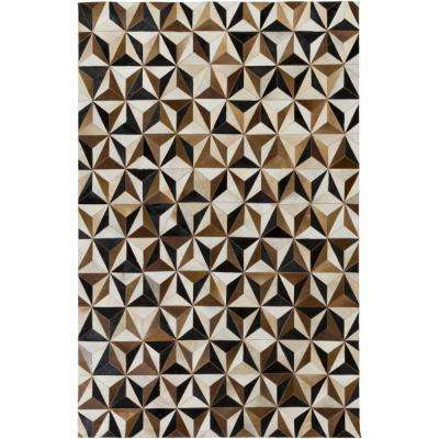 Connersville Taupe 5 ft. x 8 ft. Indoor Area Rug