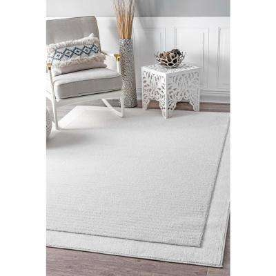 Ardath Solid White 8 ft. x 10 ft. Area Rug