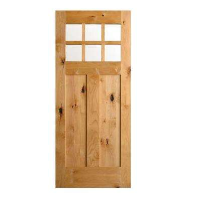 Krosswood Craftsman Rustic Knotty Alder Prehung Entry Door