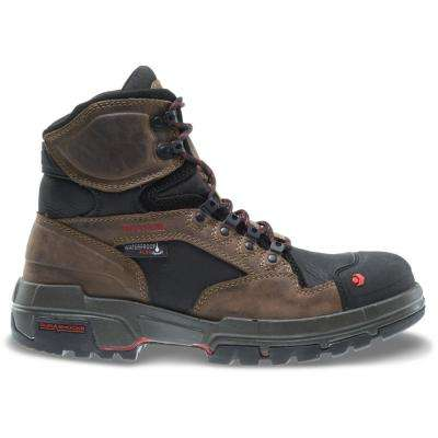 Men's Legend Dark Brown Full-Grain Leather Waterproof Composite Toe Work Boot