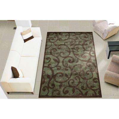 Expressions Brown 2 ft. x 8 ft. Runner Rug