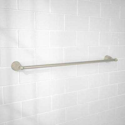 Builders 24 in. Towel Bar in Brushed Nickel