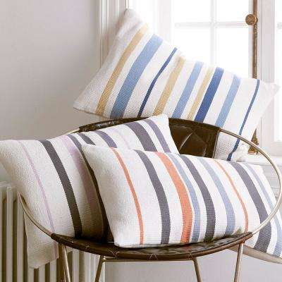 Brooklyn Striped 16 in. x 24 in. Pillow Cover