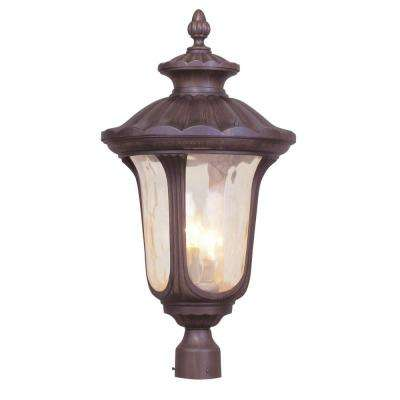 Providence 3-Light Outdoor Imperial Bronze Incandescent Post Head Light