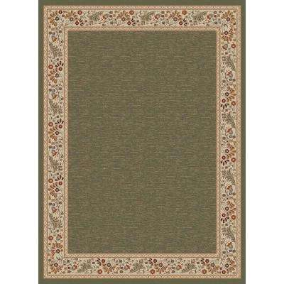 Sensation Green 7 ft. 10 in. x 10 ft. 3 in. Traditional Area Rug