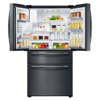 33 in. W 24.73 cu. ft. French Door Refrigerator in Fingerprint Resistant Black Stainless
