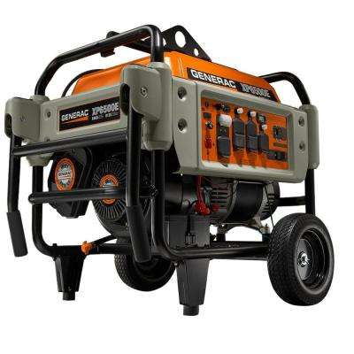 6,500-Watt Gasoline Powered Electric Start Portable Generator Heavy-Duty Professional Grade