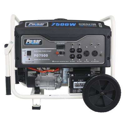 7,500/6000-Watt Gasoline Powered Electric/Recoil Start Portable Generator with 420 cc Ducar Engine
