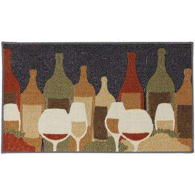 Wine Play Multi 1 ft. 8 in. x 2 ft. 10 in. Accent Rug