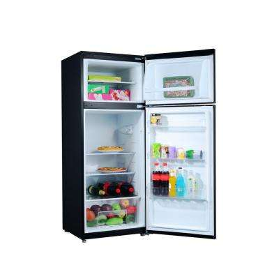 7.6 cu. ft. Top Freezer Refrigerator with Dual Door in Black