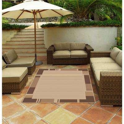 Terrace Beige 8 ft. x 11 ft. Indoor/Outdoor Area Rug