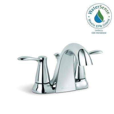 Gable 4 in. Centerset 2-Handle Mid-Arc Bathroom Faucet in Chrome