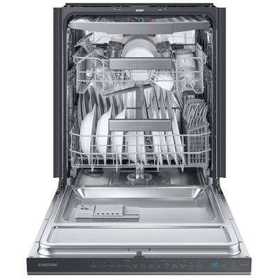24 in. Top Control Linear Wash Tall Tub Dishwasher in Fingerprint Resistant Black Stainless, 3rd Rack, 39 dBa