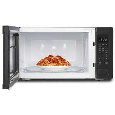 2.2 cu. ft. Countertop Microwave in Black, Built-In Capable with Sensor Cooking