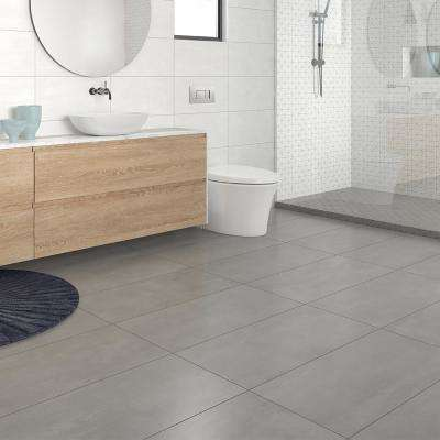 Burke Silver Tempest 12 in. x 24 in. Porcelain Floor Tile (11.57 sq. ft. / carton)