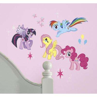 11.5 in. Multi Color My Little Pony Peel and Stick Wall Decals