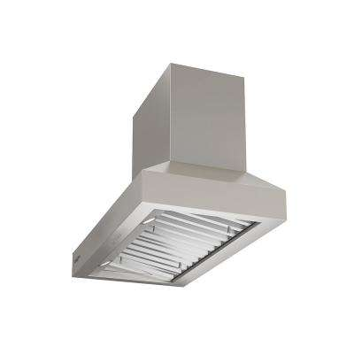 Pro Pyramid Turbo 30 in. Wall Mount Range Hood with Hidden Control and LED in Stainless Steel