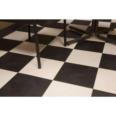 RaceDay Levant Midnight Black 12 in. x 12 in. Peel and Stick Polyvinyl Tile (20 sq. ft. per case)