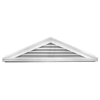 5/12 Triangle Gable Vent #001 White