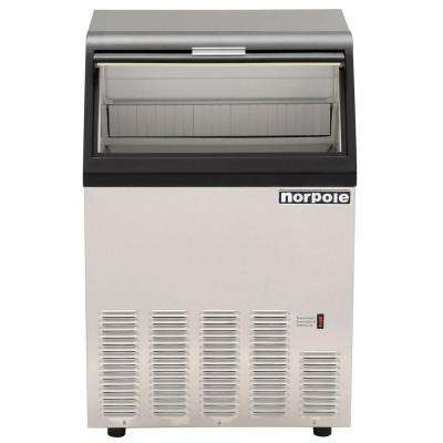 90 lb. Commercial Ice Maker in Stainless Steel