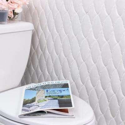 Oracle Valor Glacier White 9-1/4 in. x 9-3/8 in. x 10mm Glazed Ceramic Mosaic Tile