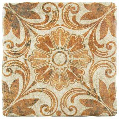Costa Arena Decor Dahlia 7-3/4 in. x 7-3/4 in. Ceramic Floor and Wall Tile (11.5 sq. ft. / case)