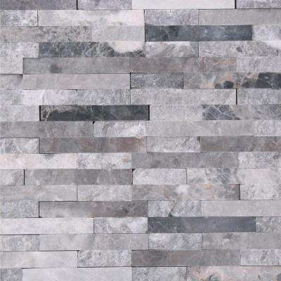 Fortress Splitface 12.5 in. x 12.5 in. x 8 mm Marble Mosaic Wall Tile