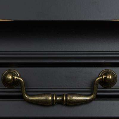 3-3/4 in. Center-to-Center Antique Brass Classic Swing Bail Drawer Pull (10-Pack)