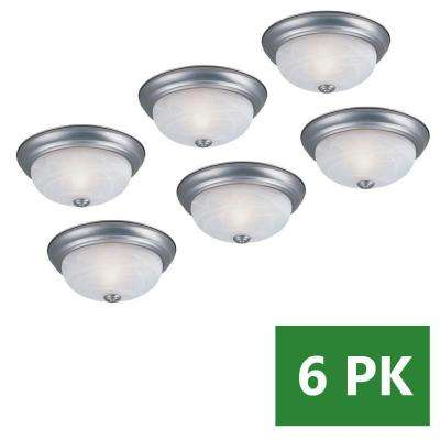 Reedley Collection 2-Light Pewter Ceiling Flushmount (6-Pack)