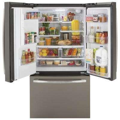 25.5 cu. ft. French-Door Refrigerator, ENERGY STAR in Slate, Fingerprint Resistant