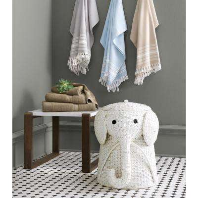 18 in. W Animal Laundry Hamper in White