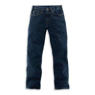 8a002094 Men's Dark Vintage Blue Cotton Straight Leg Denim Bottoms
