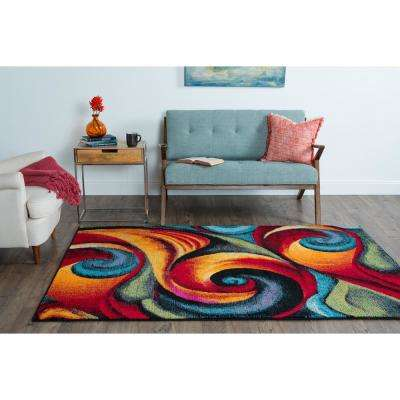 Symphony Multi 5 ft. x 7 ft. Contemporary Area Rug