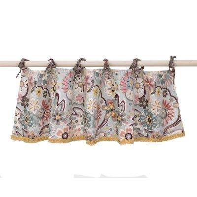 16 in. L Floral Penny Lane Cotton Valance in Multi Color