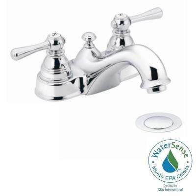 Kingsley 4 in. 2-Handle Bathroom Faucet in Chrome with Drain Assembly