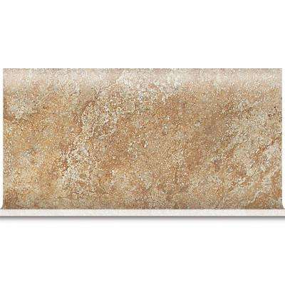 Del Monoco Adriana Rosso 6 in. x 13 in. Glazed Porcelain Cove Base Floor and Wall Tile